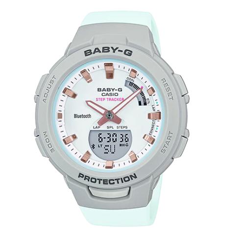 Khám phá tiện ích của đồng hồ nữ   Casio thể thao BSA-B100MC-8ADR