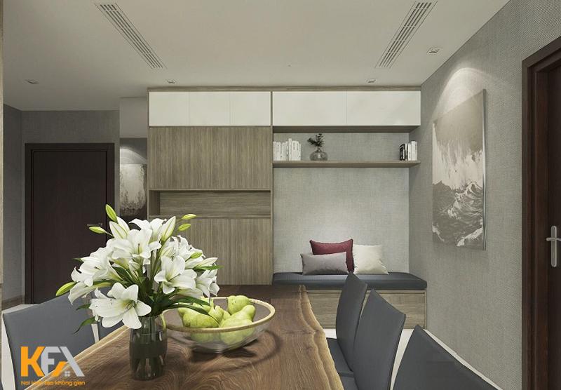 Thiết kế nội thất chung cư 3 phòng ngủ 108m2 nhà Anh Kiệt – Hoài Đức