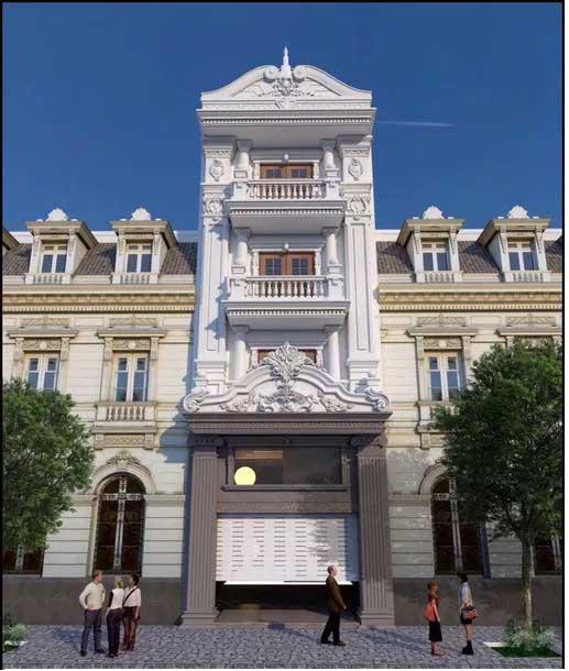 Mặt tiền nhà phố 5m 4 tầng cực thu hút mắt nhìn sẽ không khiến bạn thất vọng