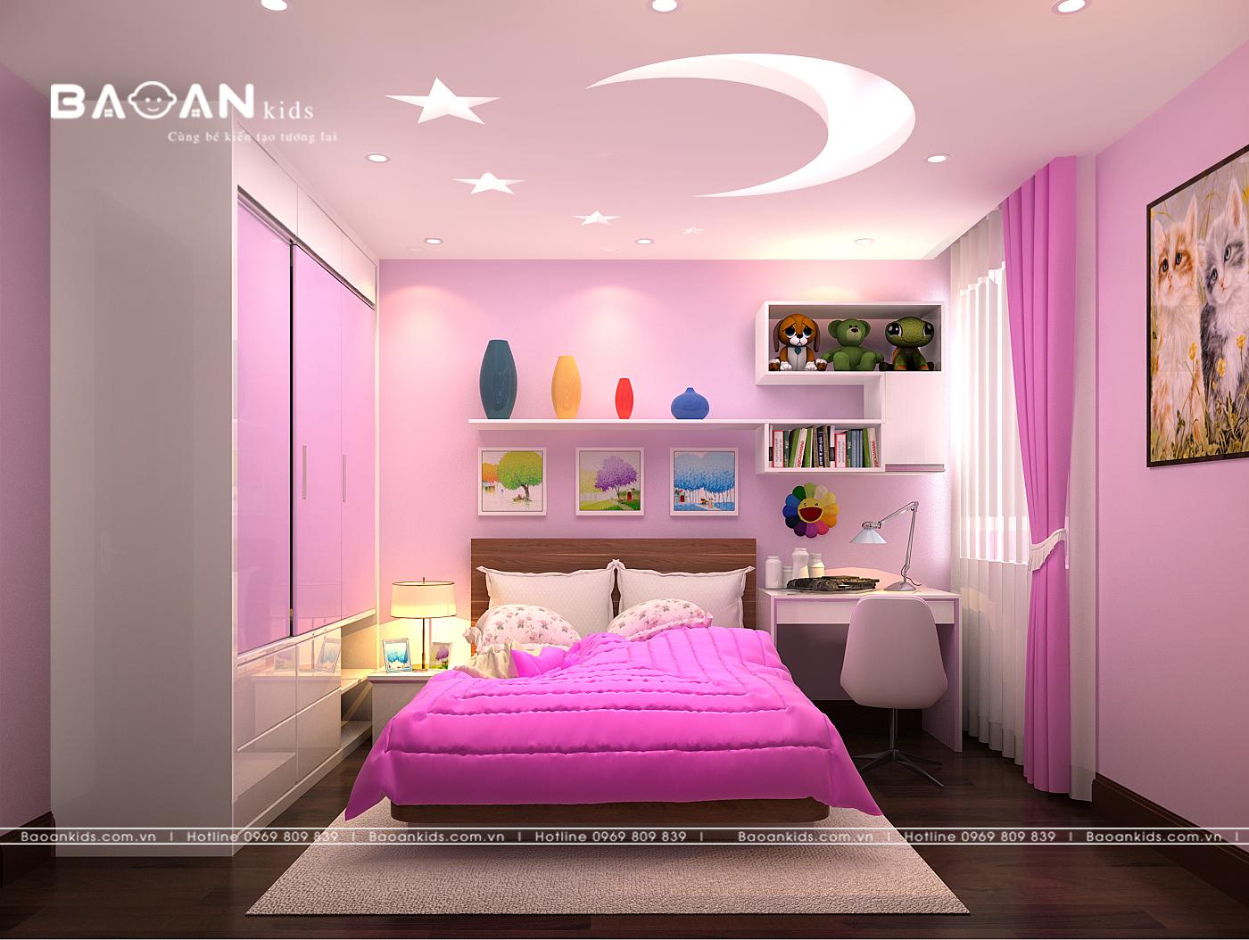 [HOT] ++ Mẫu phòng ngủ trẻ em màu hồng dành cho con gái bạn không nên bỏ qua.