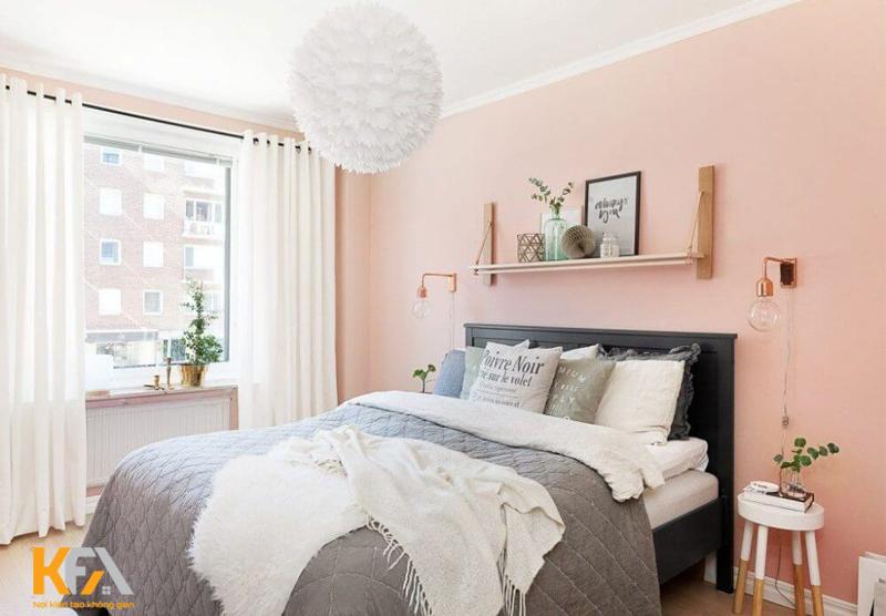 Phòng ngủ nhỏ nên sơn màu gì để thoáng đãng