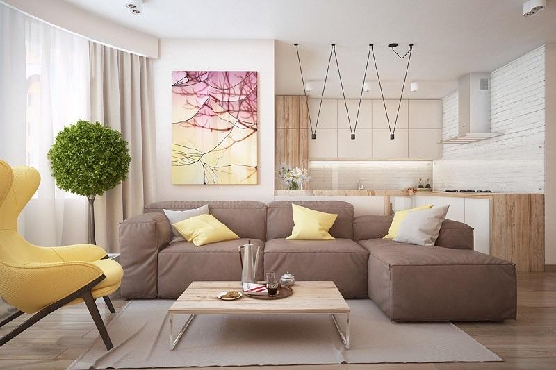Chia sẻ các mẫu thiết kế nội thất phòng khách chung cư đẹp năm 2021
