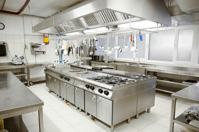 Mô hình thiết kế bếp nhà hàng hiện đại
