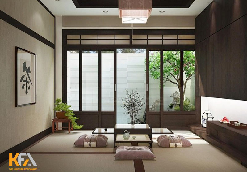 Mẫu thiết kế nội thất chung cư theo phong cách Nhật Bản