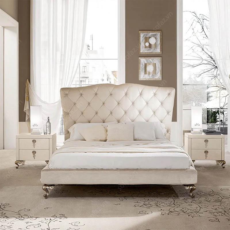 Nên chọn giường ngủ bọc nệm loại vải, loại da hay nỉ?